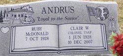 Ruby <i>McDonald</i> Andrus