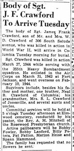 Sgt James Francis Crawford