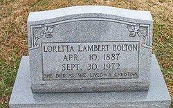 Loretta <i>Lambert</i> Bolton