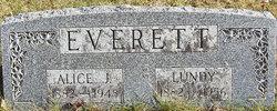 Alice Jane <i>Bowes</i> Everett