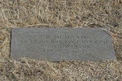 Lieut Erasmus D Duncan