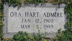 Ora <i>Hart</i> Admire