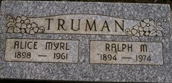 Alice Myrl <i>Johnson</i> Truman