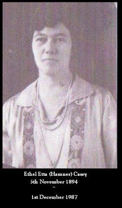 Ethel Etta <i>Hamner</i> Casey