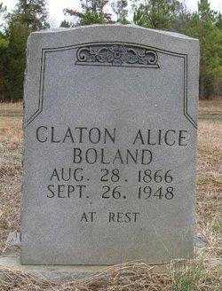 Claton Alice <i>Bowers</i> Boland