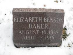 Elizabeth <i>Benson</i> Baker