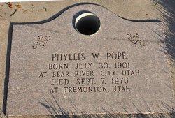 Phyllis <i>Wilson</i> Pope