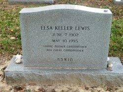 Elsa <i>Keller</i> Lewis