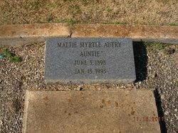 Mattie Myrtle Auntie Autrie