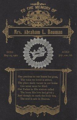 Mary S <i>Christman</i> Bauman