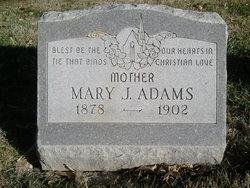 Mary Jane <i>Meeker</i> Adams