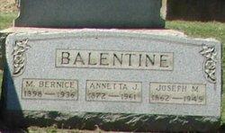 Annetta Jane <i>McConnell</i> Balentine