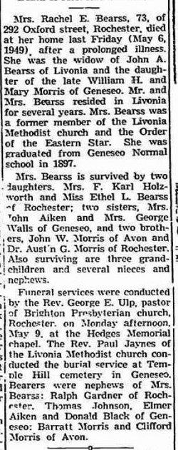 Rachel E. <i>Morris</i> Bearss