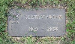 Cleta V. Adams
