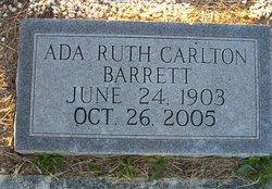 Ada Ruth <i>Carlton</i> Barrett