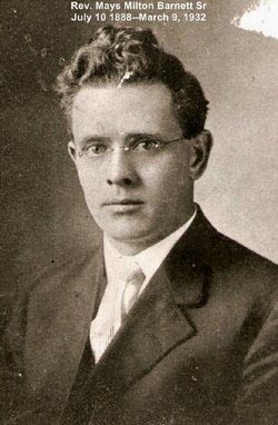 Rev Mays Milton Barnett, Sr