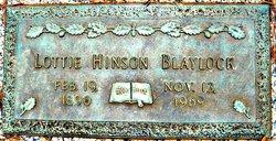 Lottie <i>Hinson</i> Blaylock