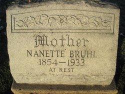 Fredericka Nannetta Emilie Nettie <i>Jung</i> Bruhl