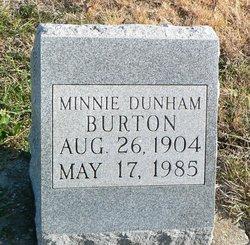 Minnie <i>Whaley</i> Burton