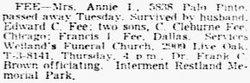 Annie <i>Irvine</i> Fee