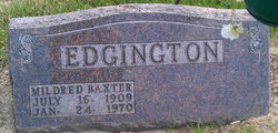 Mildred <i>Baxter</i> Edgington