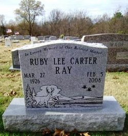 Ruby Lee <i>Carter</i> Ray
