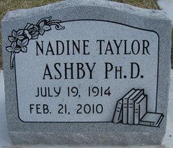 Nadine <i>Taylor</i> Ashby
