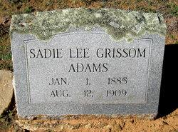 Sadie Lee <i>Grissom</i> Adams
