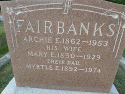 Mary E <i>Whitcomb</i> Fairbanks