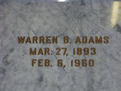 Warren B Adams