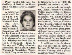 Piney Dahlia <i>Edmonson</i> Whitney