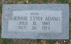 Jennie Lynn <i>Wilson</i> Adams