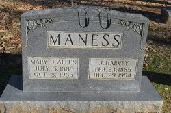 Mary J <i>Allen</i> Maness