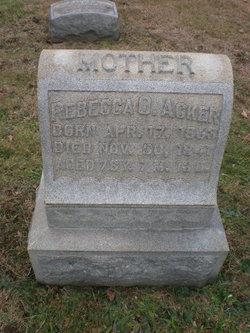Rebecca O. <i>Benner</i> Acker