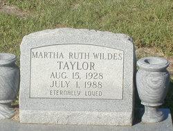 Martha Ruth <i>Wildes</i> Taylor