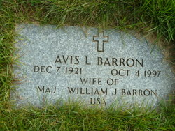 Avis L <i>Hall</i> Barron