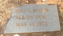 Sadie <i>J</i> Brown