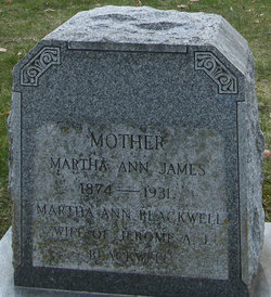 Martha Ann <i>James</i> Blackwell
