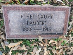 Ethel Elizabeth <i>Crump</i> Lambert