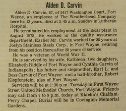 Alden D. Carvin