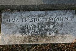 Mary Alma <i>Preston</i> Browning