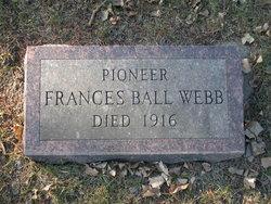 Frances <i>Ball</i> Webb