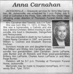 Anna May <i>Cochran</i> Carnahan