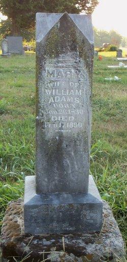 Mary <i>Wilson</i> Adams