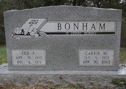 Carrie M <i>Blevins</i> Bonham