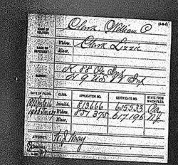Pvt William P Clark