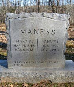 Fannie L Maness