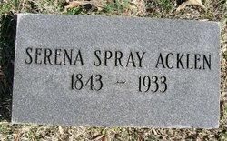 Serena Spray Acklen