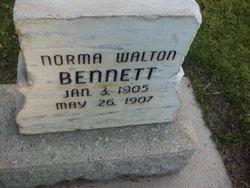 Norma <i>Walton</i> Bennett