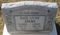 Hazel Louise Adams